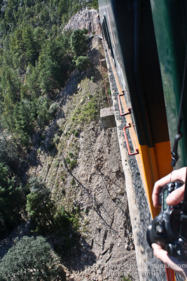 a bridge on the copper canyon train, chepe