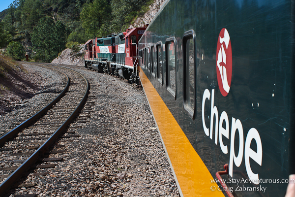 the Chepe train through the Copper Canyon