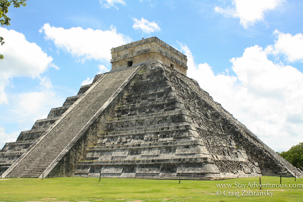the Pyramid of Kukulcan at Chichen Itza in Mexico