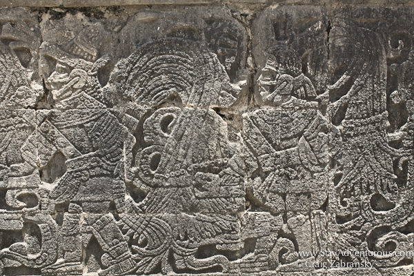 Mayan Carvings at Chichen Itza, Mexico