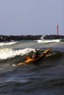 Abraham Levy in a Kayak on the coast of Mexico