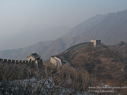 A View of the Great Wall of China at Mutianyu