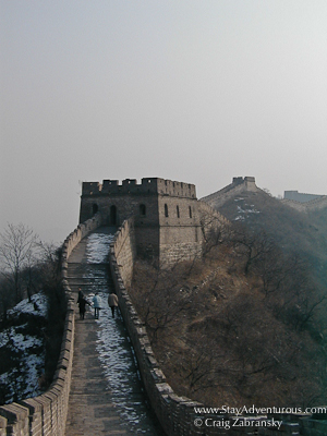 Hiking the Great Wall in Winter with Snow