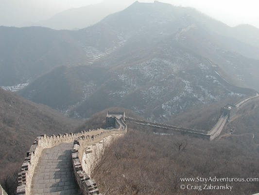 The Great Wall of China in Winter at Mutianyu