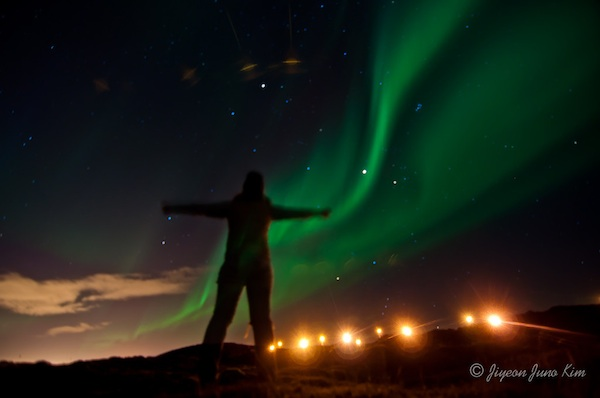 the northern lights from iceland in 2012