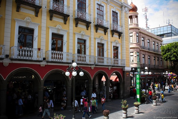 the Zocalo in Puebla, Mexico