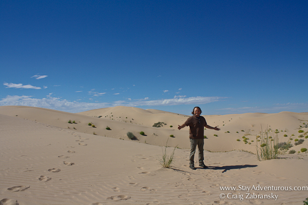 Posing in the Samalayuca Sand Dunes of Chihuahua