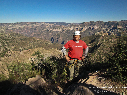 Zipline across the Copper Canyon in Chihuahua, Mexico