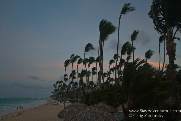 the sunset on the beaches of punta cana in the dominican republic