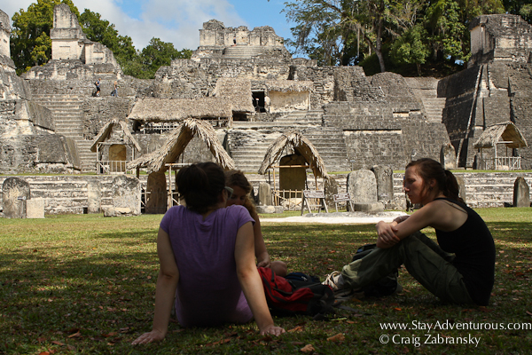 the Gran Plaza of the Mayan Ruins of Tikal is still in use today...