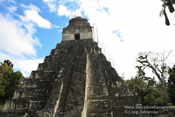 Templo I - The Temple of the Gran Jaguar, at the Mayan Ruins of Tikal, Guatemala