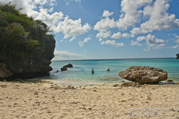 Daaibooi Beach on the island of Curacao