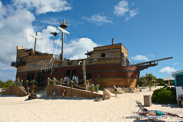 the beached pirate ship on half moon caye