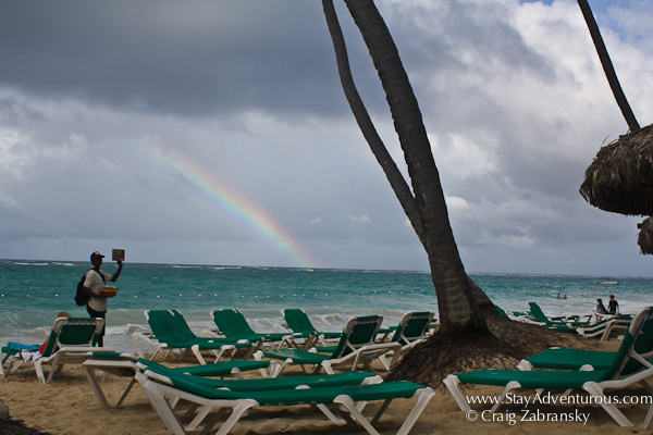 a rainbow on the atlantic in punta cana, DR
