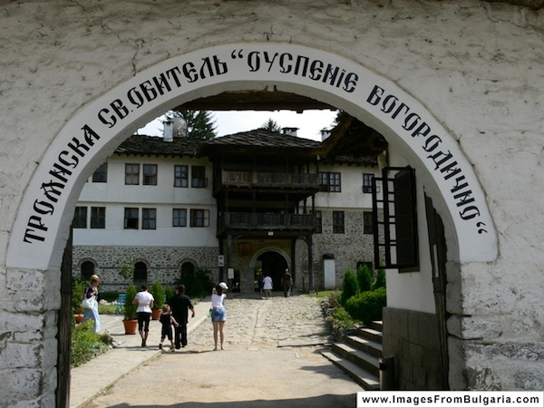 the Troyan Monastery in Bulgaria