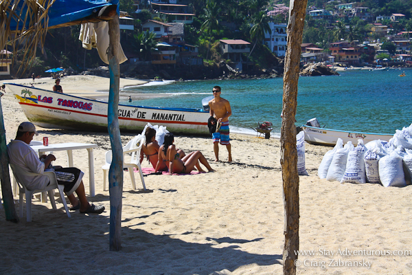 the beach of Yelapa in Mexico