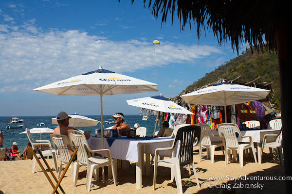 the talapas on the beaches of Yelapa