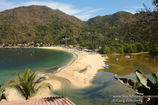 the view of Yelapa, Jalisco Mexico