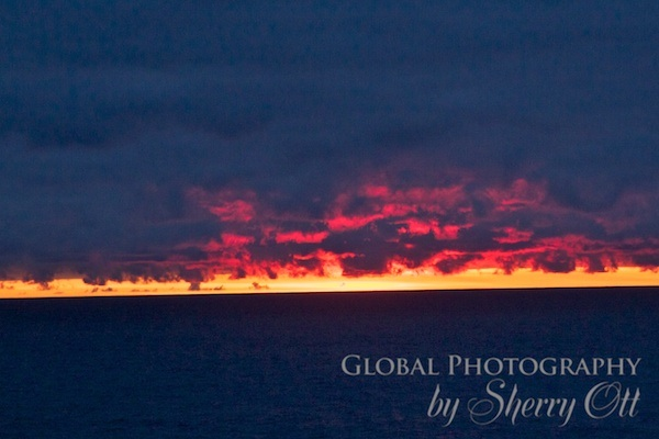 sunset near the south shelter islands of Antarctica... but the sun never sets