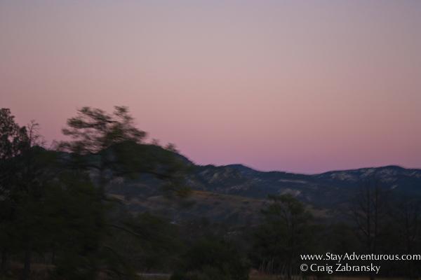 sunset near san isidro, chihuahua, mexico