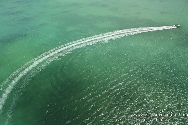 parasailing at the key largo hilton caribbean watersports in the upper florida keys