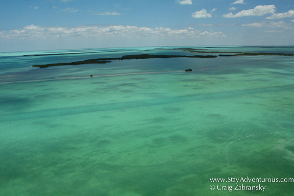 the view from parasailing in the upper florida keys