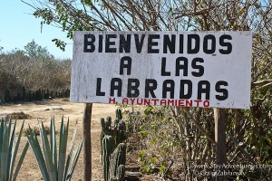 welcome sign at las labradas, mazatlan, mexico