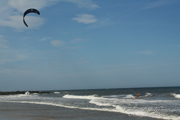 kite surfing at the jersey shore in spring lake, nj