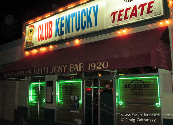 the club kentucky in Juarez Mexico, the birthplace of the Margarita
