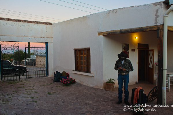 A sunset in Casas Grandes, Chihuahua, Mexico at the home of Spencer MacCallum