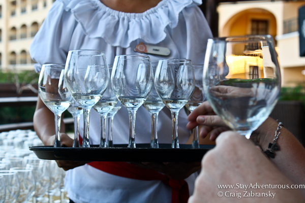 tray of tequila at hacienda tres rios resort in the riviera maya at a special tasting