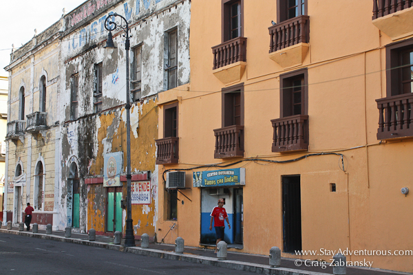 the streets of Veracruz, Mexico