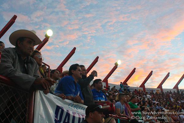 the sunset at the plaza de toros in mazatlan, sinaloa, mexico when Pablo Hermoso de Mendoza was fighting