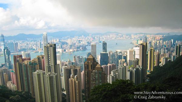 victoria peak hong kong, a city of contrasts