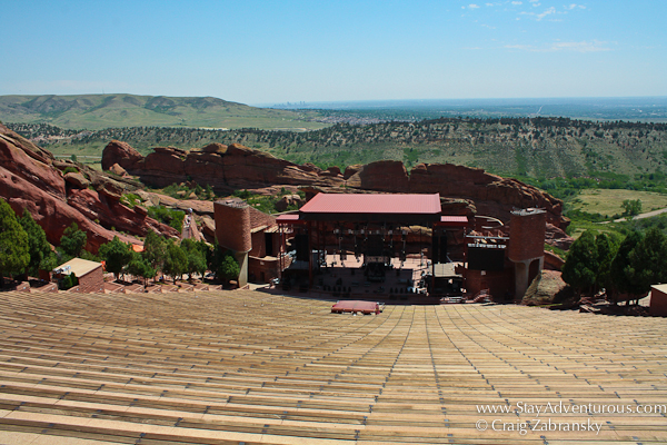 A View of the Red Rocks Amphitheatre before anyone else arrives