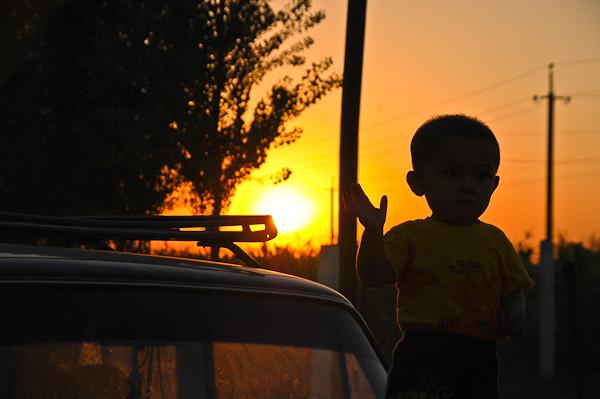 pksent, Uzbekistan sunset