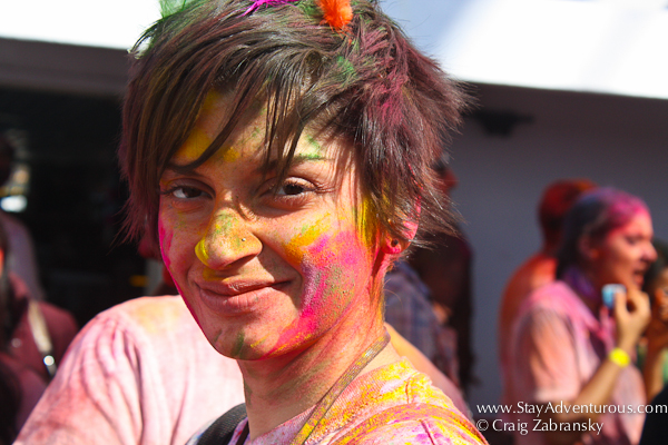 everyone enjoyed the colors at the Holi Festival created by InMedia in New York on the Hornblower's The Respect