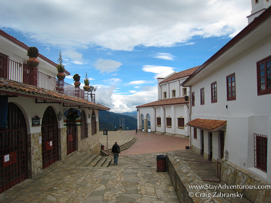 walking on top of monserrate in bogota colombia