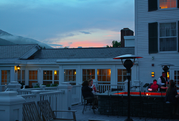 sunset at the Equinox Spa and Resort in Manchester Village, Vermont.