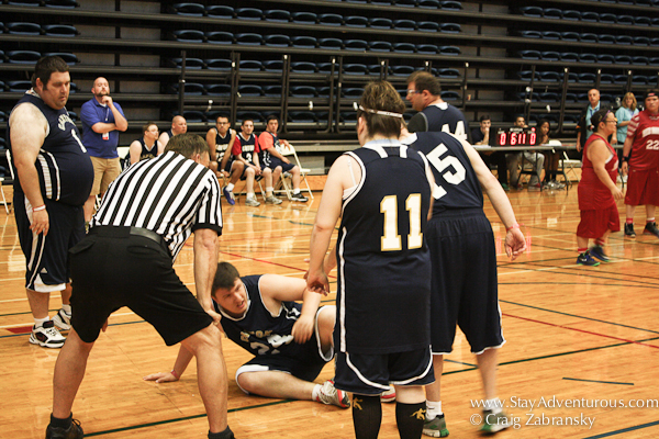 intenstiy on the floor at the new york special olympics basketball