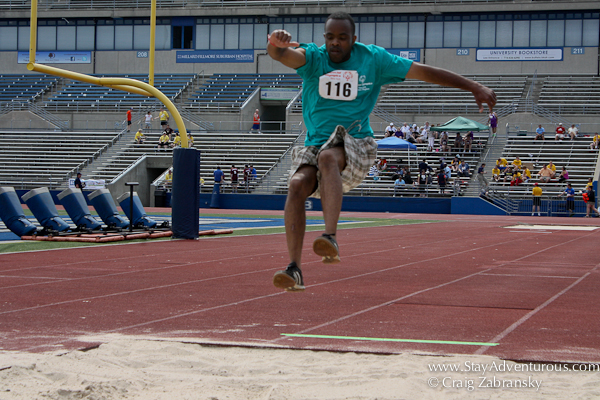 the high jump at the special olympics at suny buffalo
