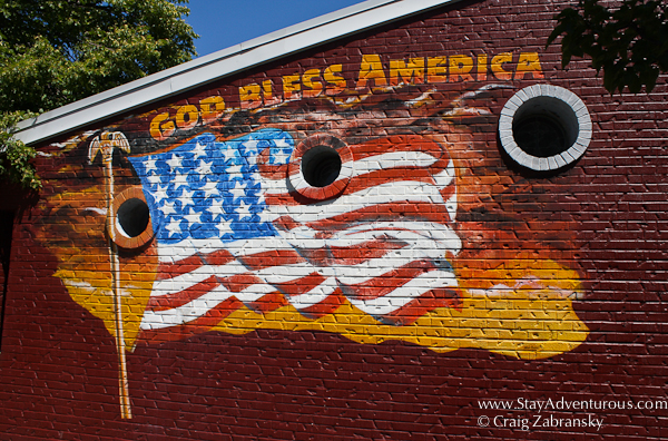 god bless america from the Anchor Bar, home of the original buffalo wings, in Buffalo, NY, USA