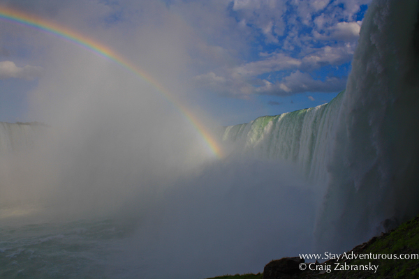 the Rainbow heads in to the Horseshoe Falls at the Niagara Falls on the Journey Behind the Falls