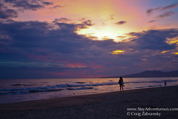 a sunset at the PAradise Village Resort in Nevo Vallarta, Nayarit. It is on the Riviera Nayarit, Mexico's West Coast