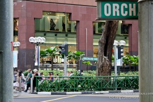 a view of Orchard Road in Singapore