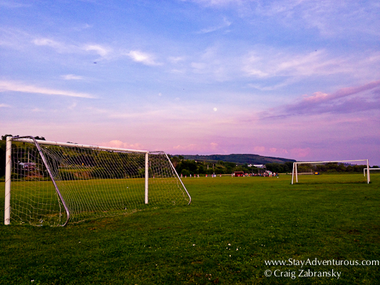 sunset at the park in Marathon, New York