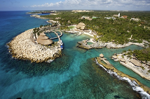 the view of Xcaret and the beauty of Cancun on the Gulf of Mexico
