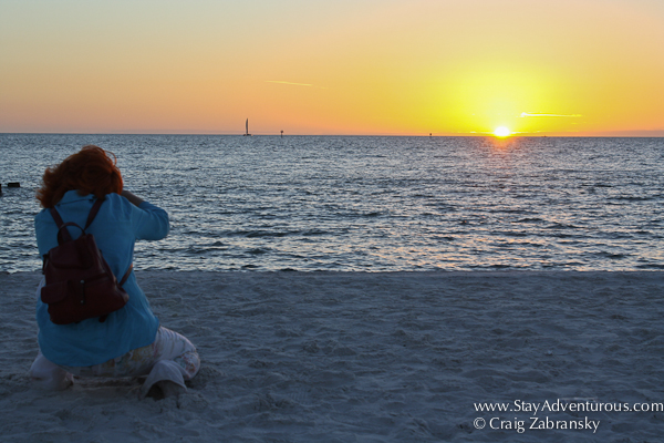 the sunset in clearwater, florida from the best, Florida's Best Beach via USA Today