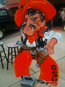 pistol pete at Oklahoma State Game in Stillwater, OK.