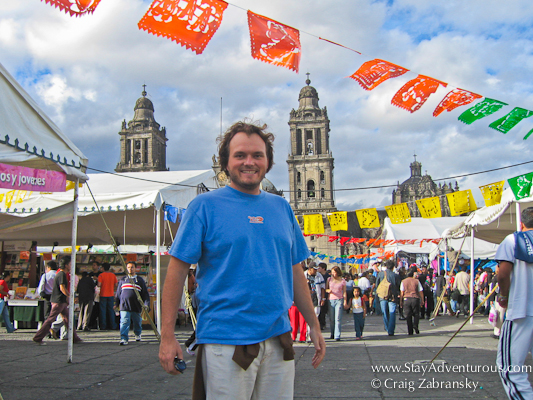 Craig Zabransky in the Zocalo of Mexico City